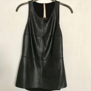 Bailey 44 faux leather front tank top, size M